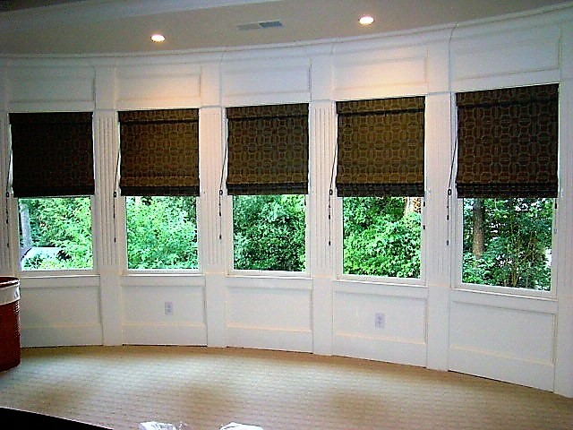bay window roman shades