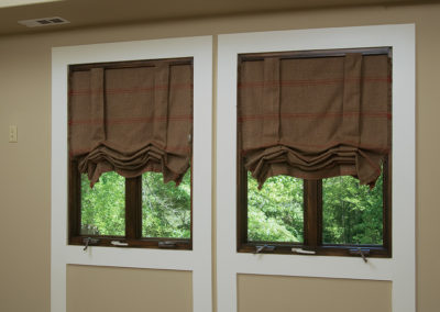 brown roman shades2
