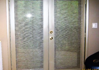 french door-kitchen door solar shades