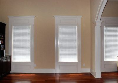 white custom blinds