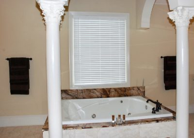 pastors house 2 inch blinds in masterbath